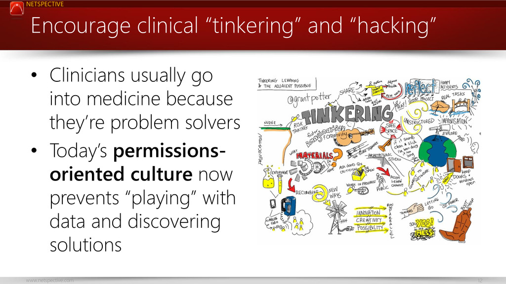 NETSPECTIVE www.netspective.com 12 • Clinicians...