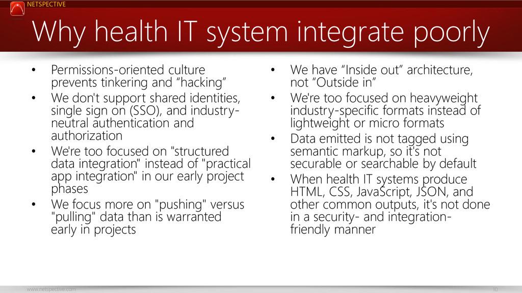 NETSPECTIVE www.netspective.com 10 Why health I...