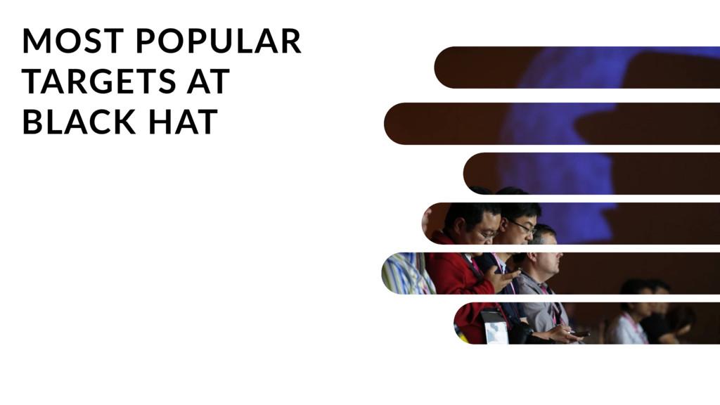 MOST POPULAR TARGETS AT BLACK HAT
