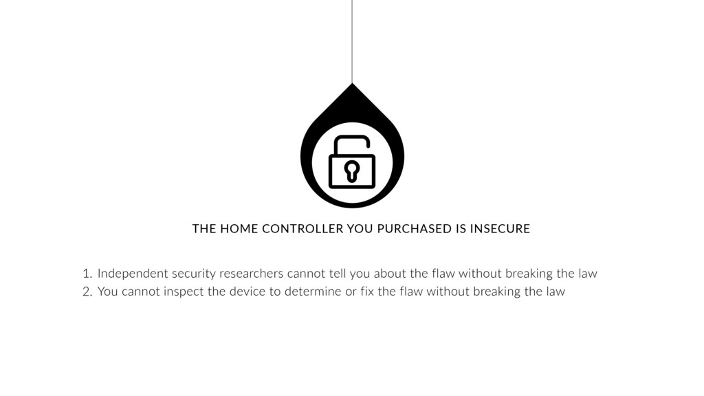 THE HOME CONTROLLER YOU PURCHASED IS INSECURE 1...