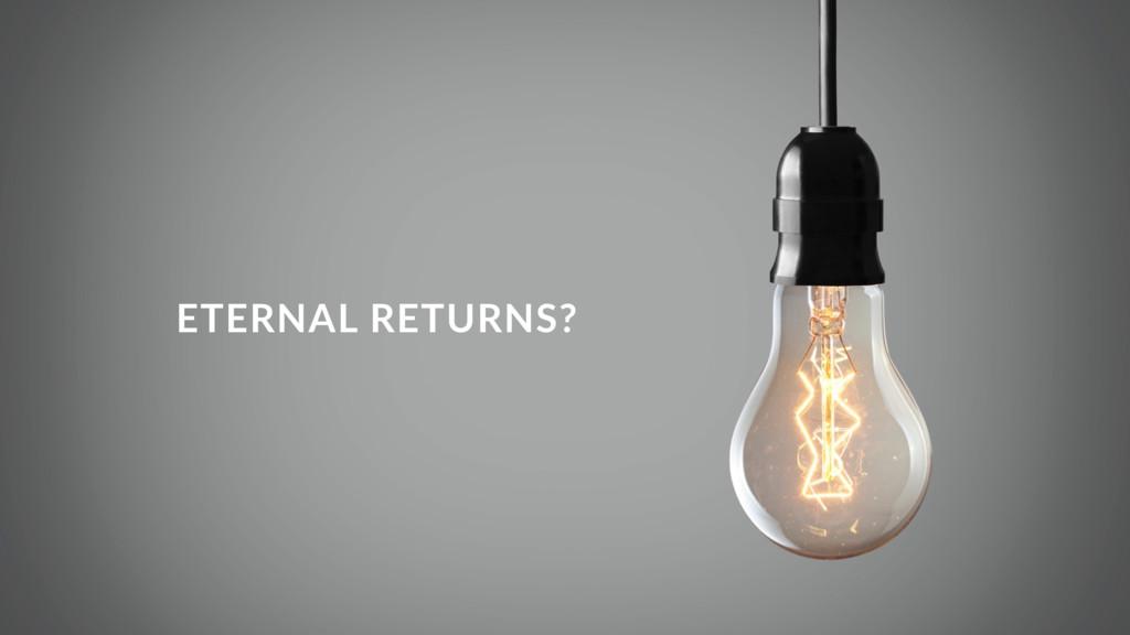 ETERNAL RETURNS?