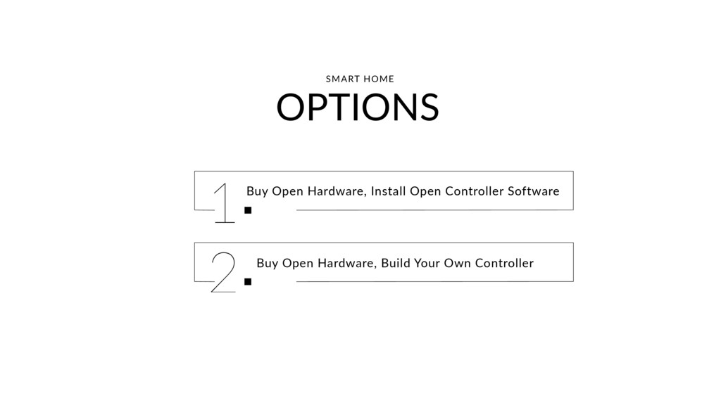 OPTIONS Buy Open Hardware, Install Open Control...