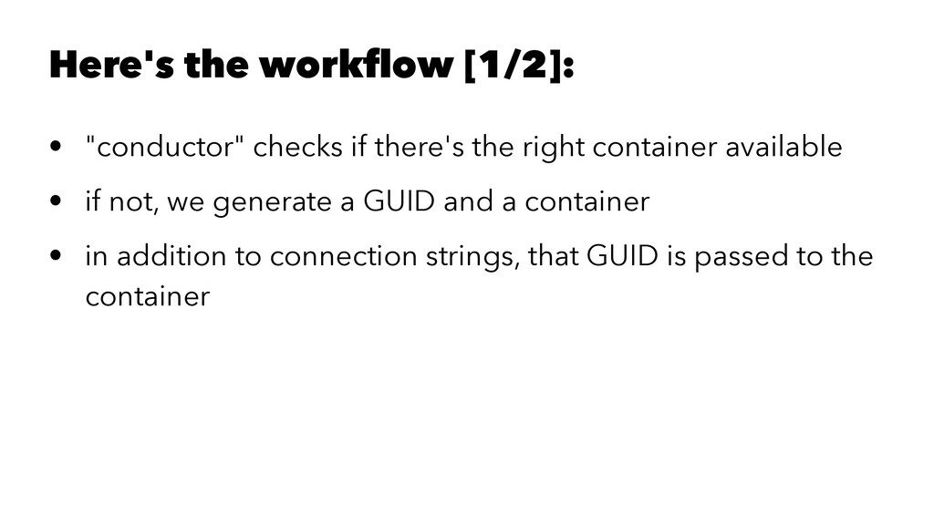 "Here's the workflow [1/2]: • ""conductor"" checks ..."