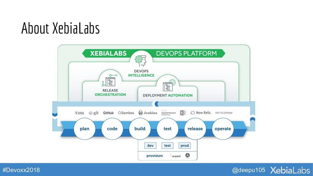 @deepu105 #Devoxx2018 About XebiaLabs