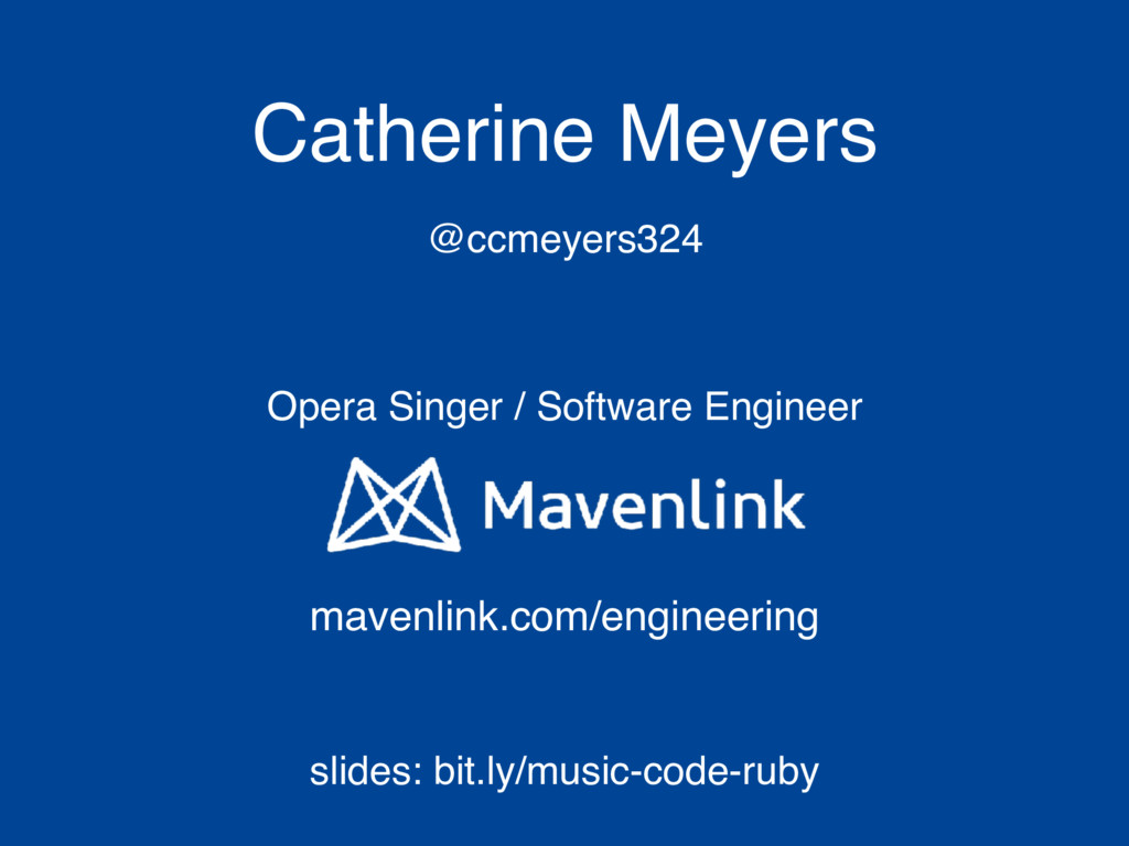 Catherine Meyers @ccmeyers324 mavenlink.com/eng...
