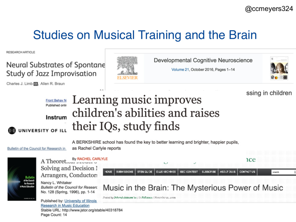 Studies on Musical Training and the Brain @ccme...