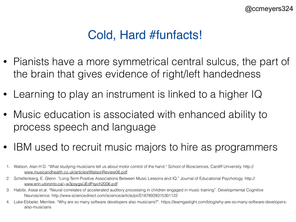 "Cold, Hard #funfacts! 1. Watson, Alan H D. ""Wha..."