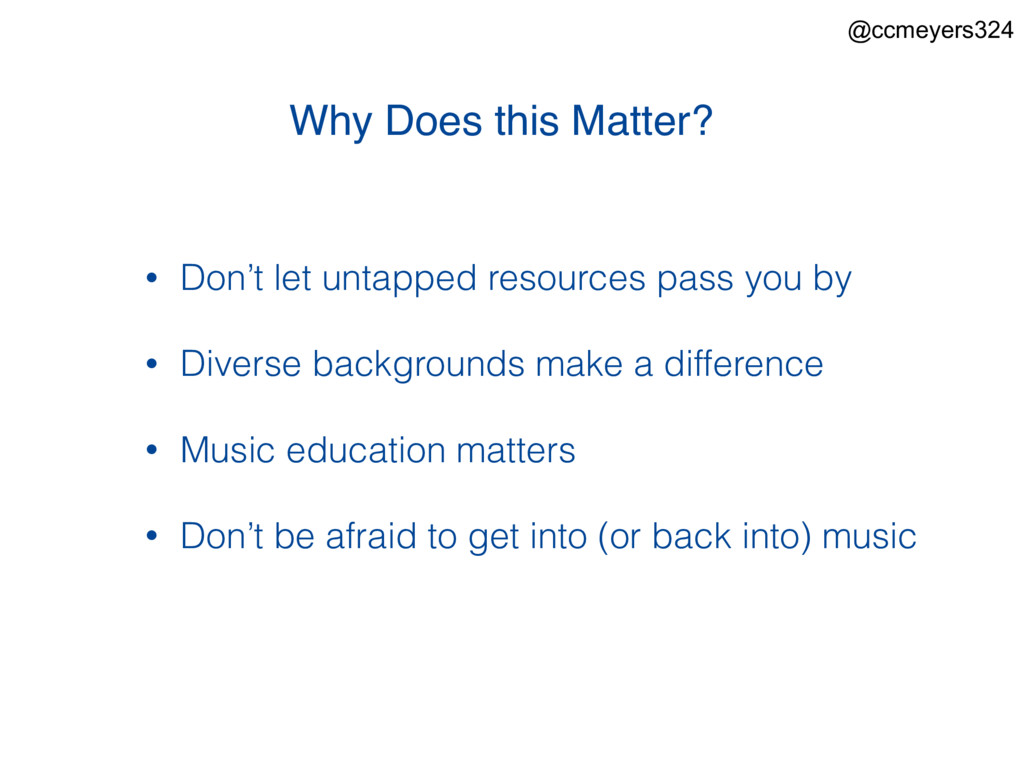 Why Does this Matter? • Don't let untapped reso...