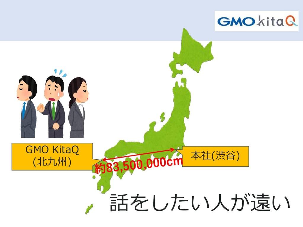 話をしたい人が遠い 本社(渋谷) GMO KitaQ (北九州)