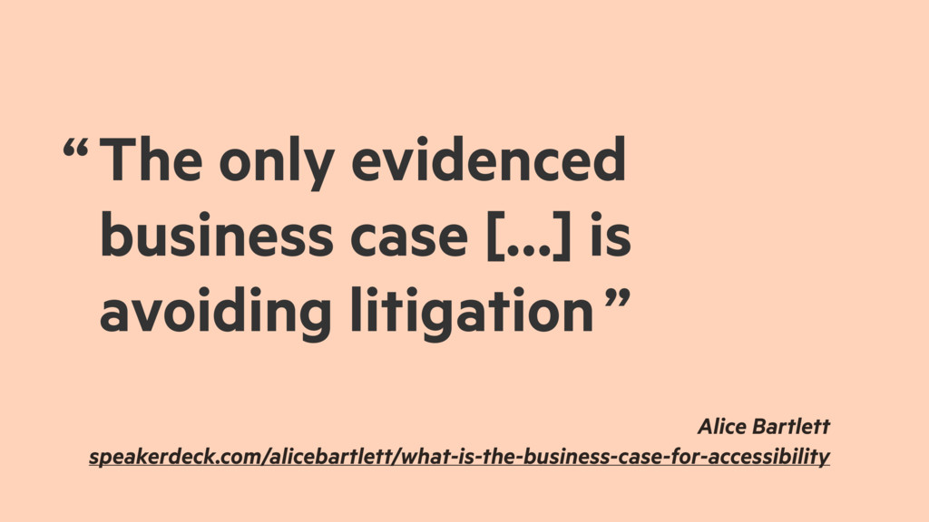 """ The only evidenced business case […] is avoid..."