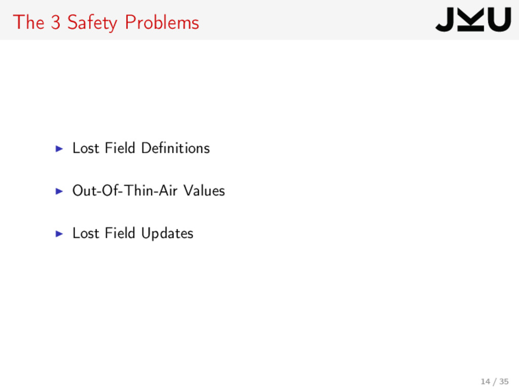 The 3 Safety Problems Lost Field Definitions Out...