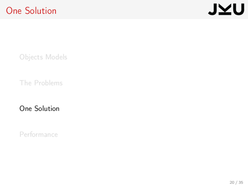 One Solution Objects Models The Problems One So...