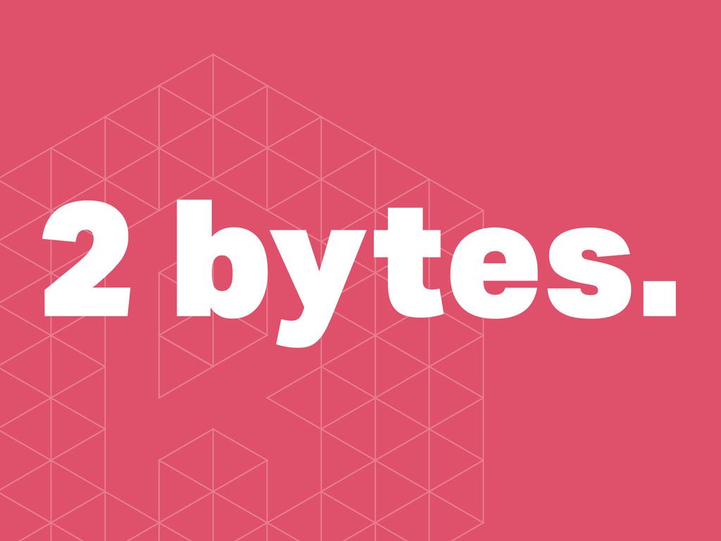 2 bytes.
