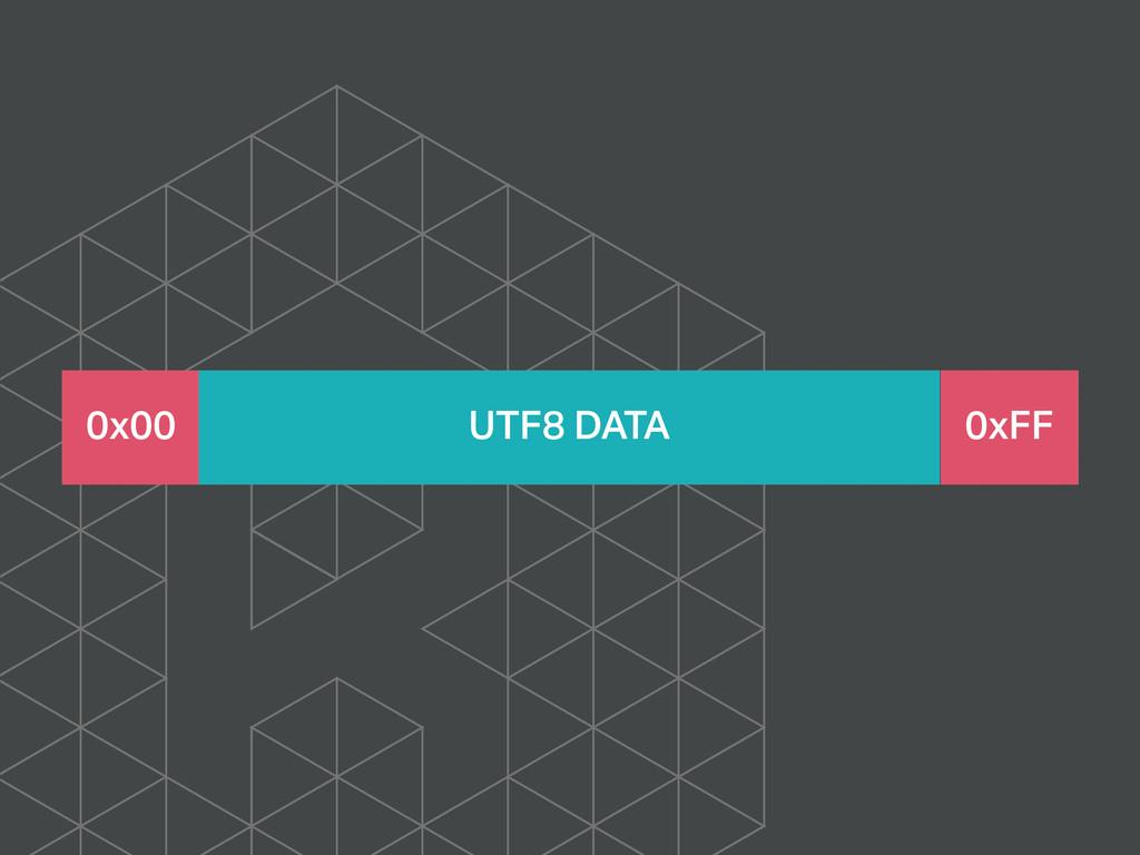 0x00 UTF8 DATA 0xFF