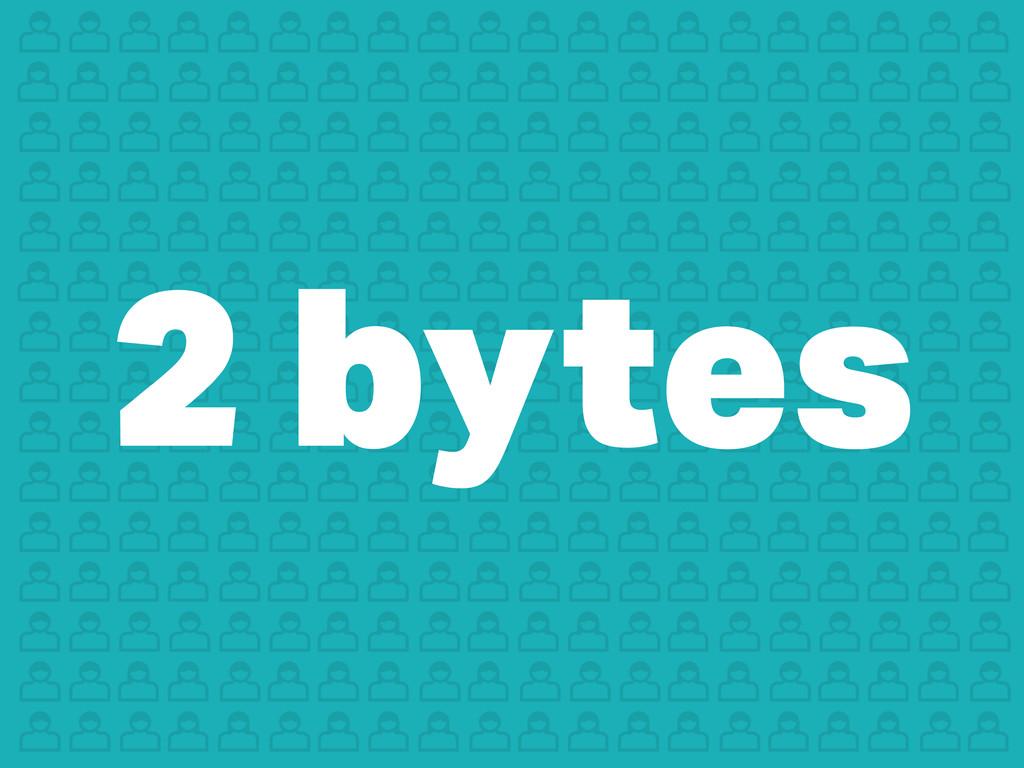 2 bytes