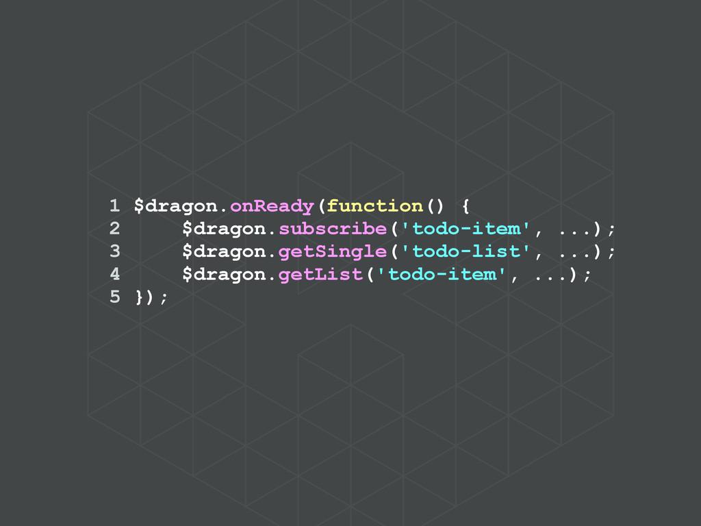 1 $dragon.onReady(function() { 2 $dragon.subscr...