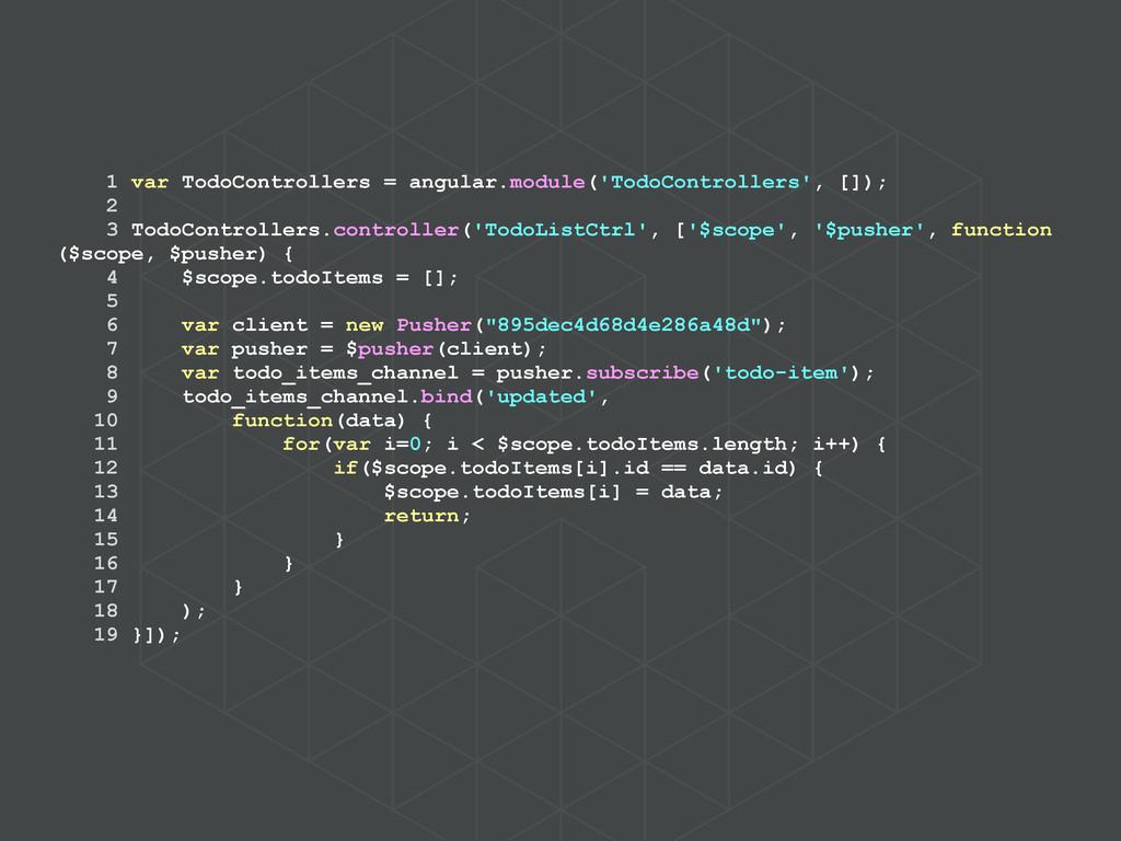 1 var TodoControllers = angular.module('TodoCon...
