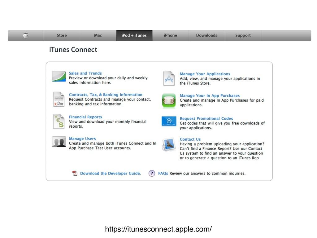 https://itunesconnect.apple.com/