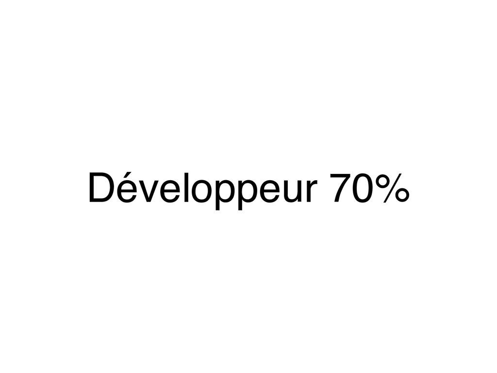 Développeur 70%