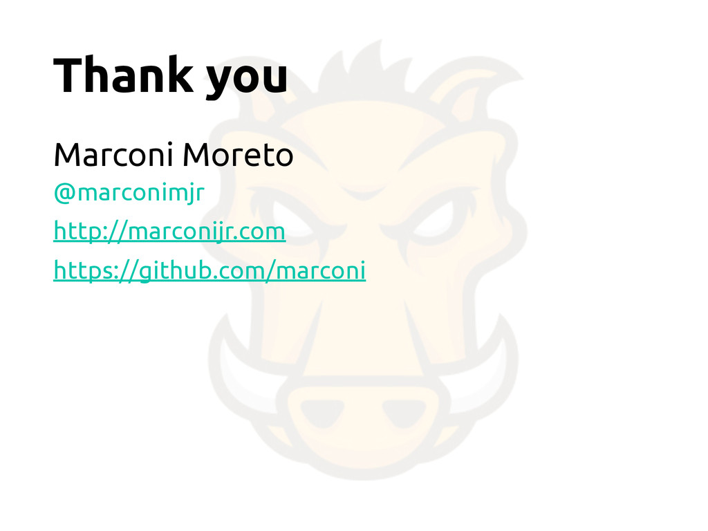 Thank you Marconi Moreto @marconimjr http://mar...