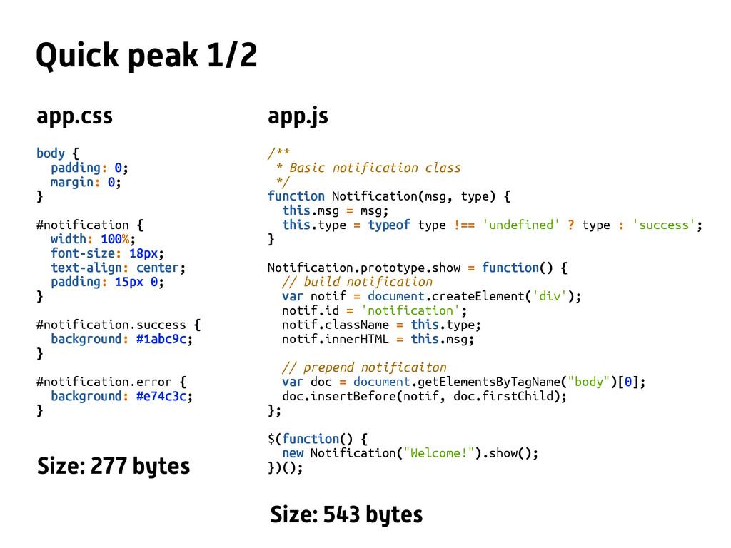 Quick peak 1/2 body { padding: 0; margin: 0; } ...