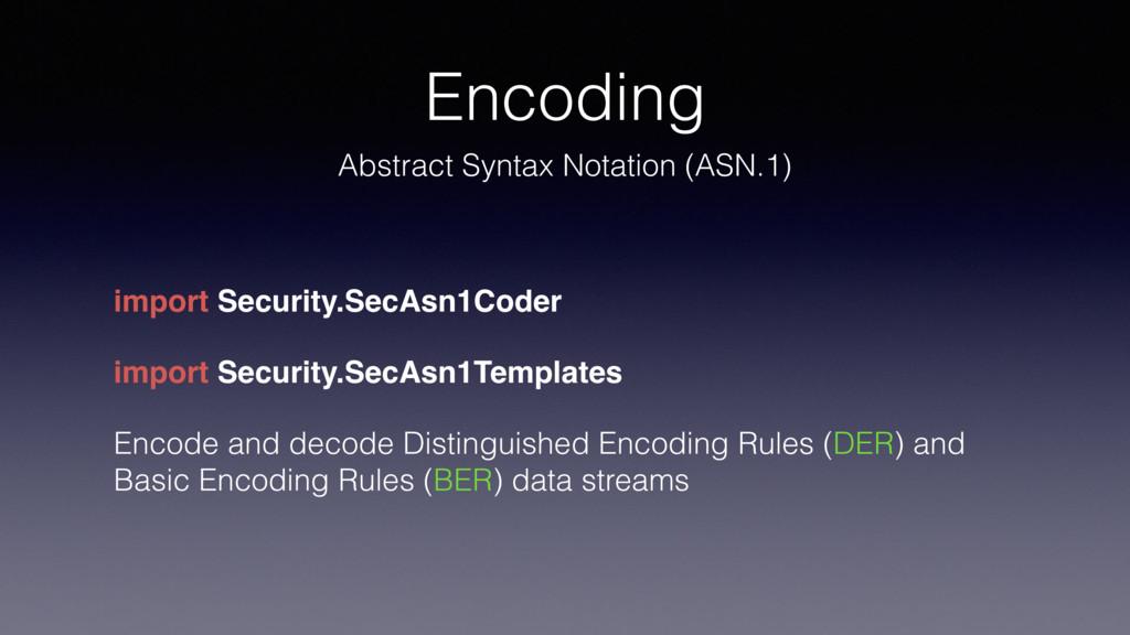 Encoding Abstract Syntax Notation (ASN.1) impor...