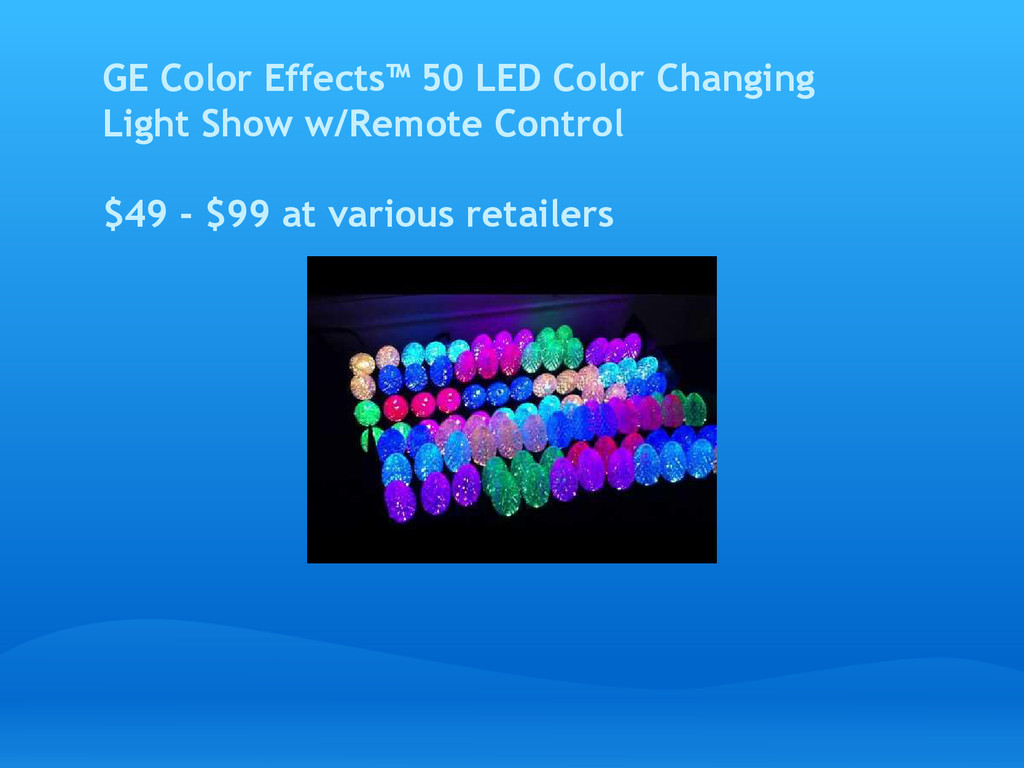 GE Color Effects™ 50 LED Color Changing Light S...