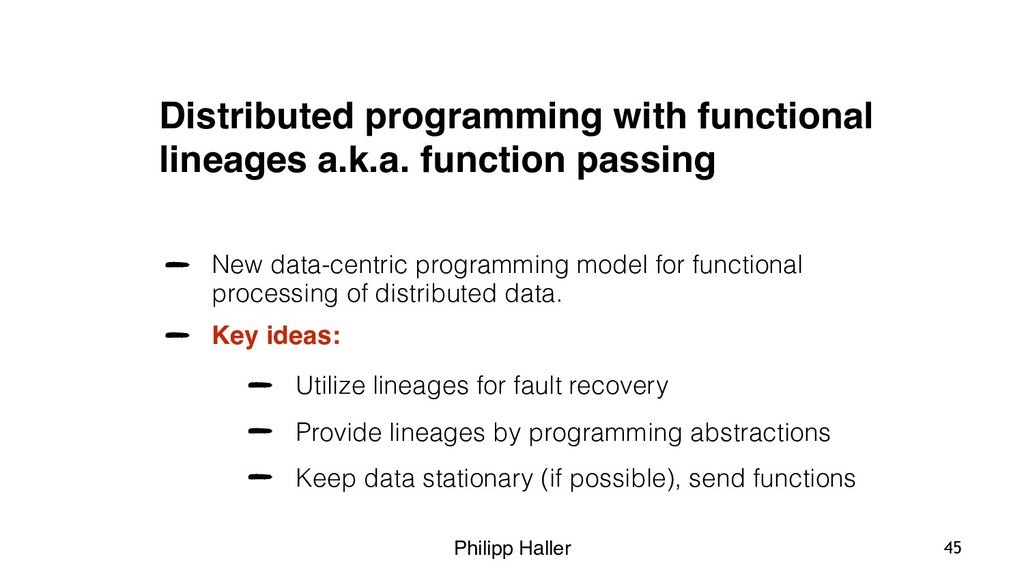 Philipp Haller Distributed programming with fun...