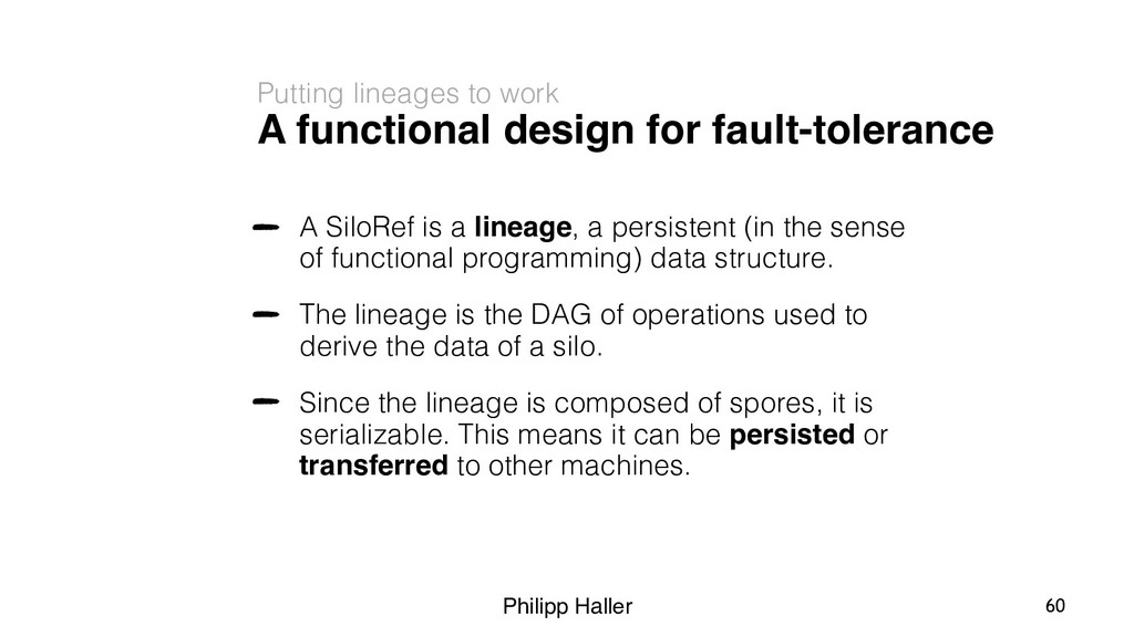Philipp Haller A functional design for fault-to...