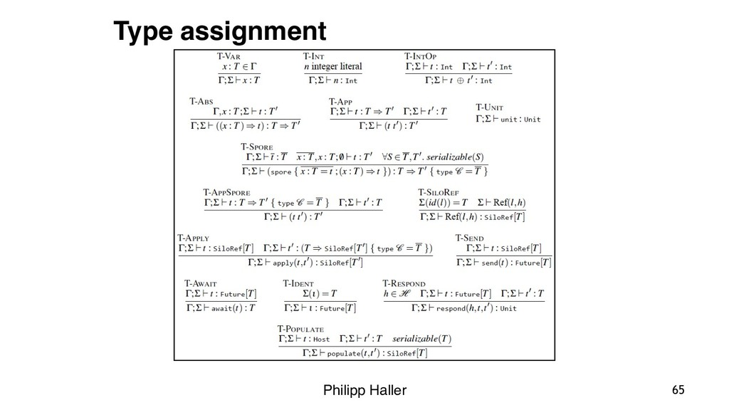 Philipp Haller 65 Type assignment