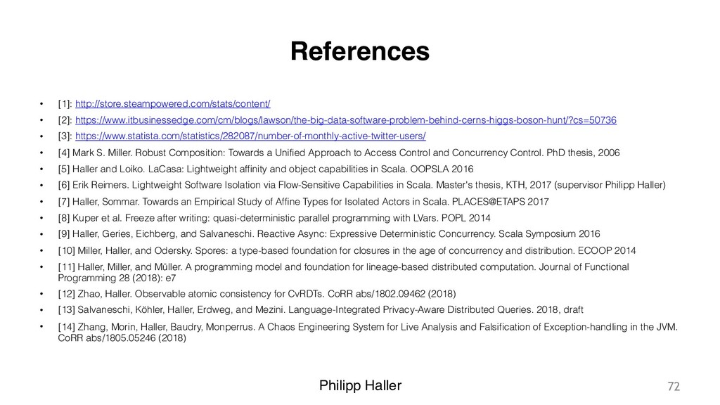 Philipp Haller References • [1]: http://store.s...