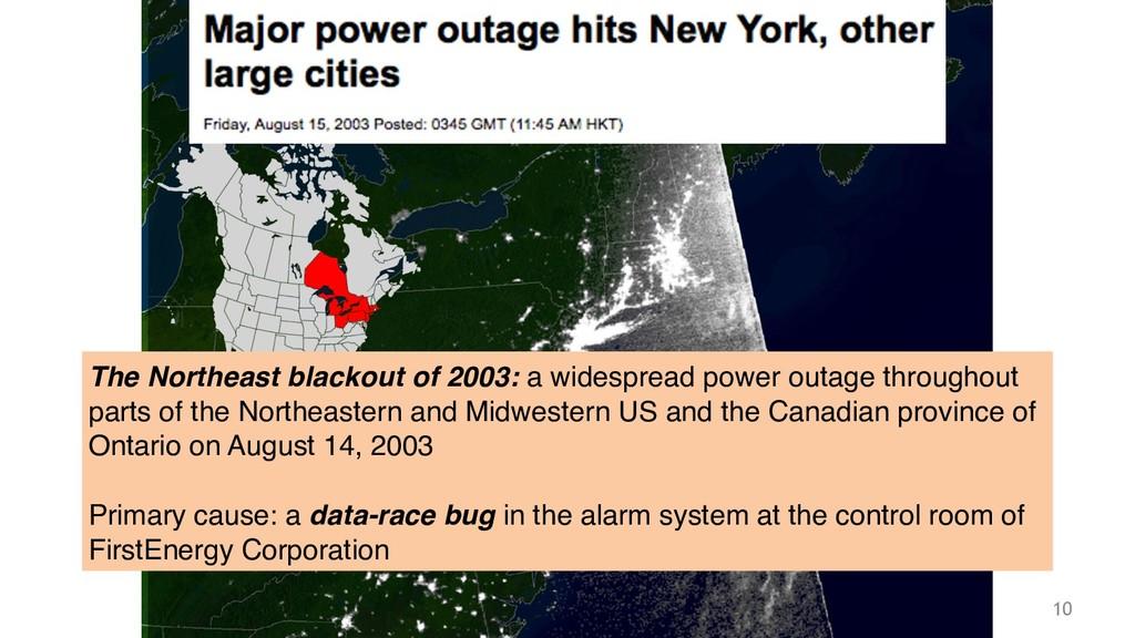 Philipp Haller 10 The Northeast blackout of 200...