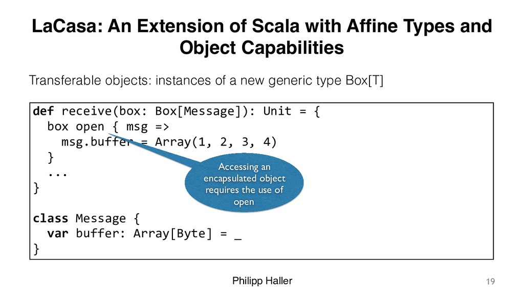 Philipp Haller LaCasa: An Extension of Scala wi...