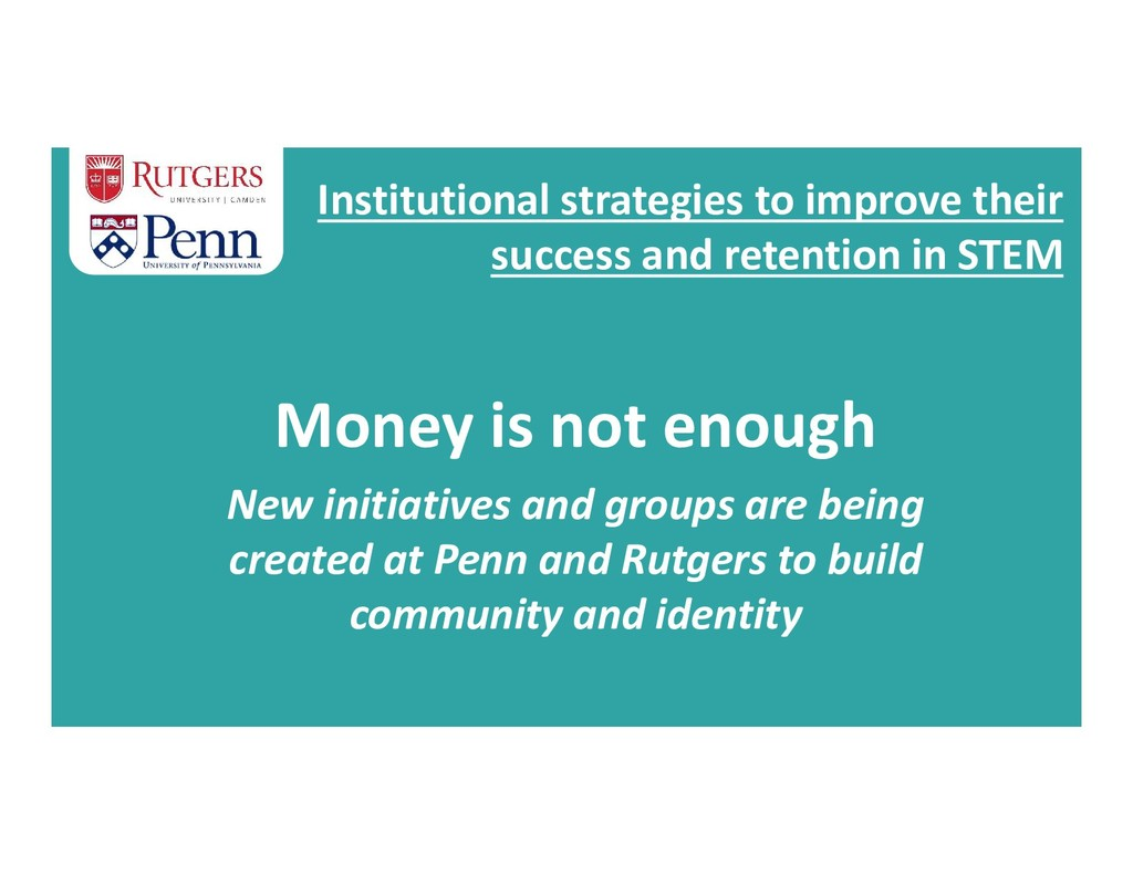 Institutional strategies to improve their succe...