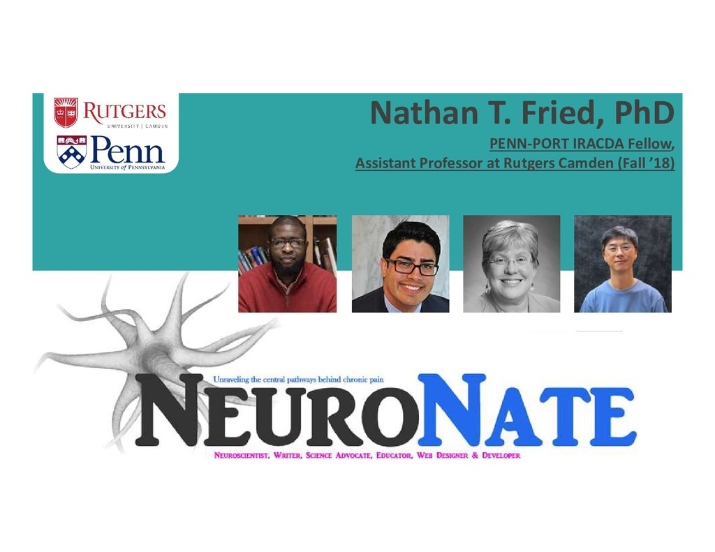 Nathan T. Fried, PhD PENN-PORT IRACDA Fellow, A...