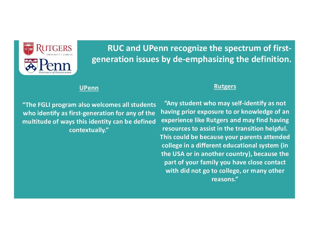RUC and UPenn recognize the spectrum of first- ...