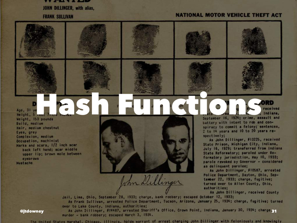Hash Functions @jtdowney 31