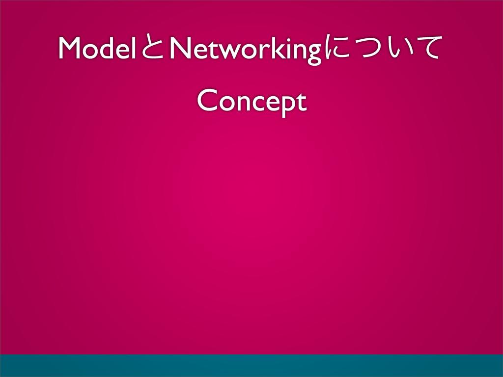 ModelͱNetworkingʹ͍ͭͯ Concept