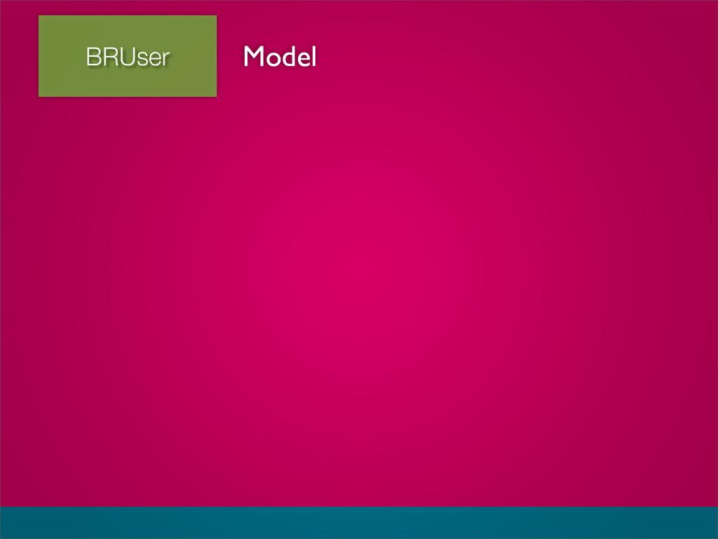 BRUser Model