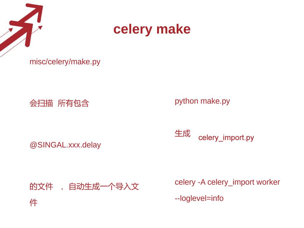 celery make • misc/celery/make.py • 会扫描 所有包含 @S...