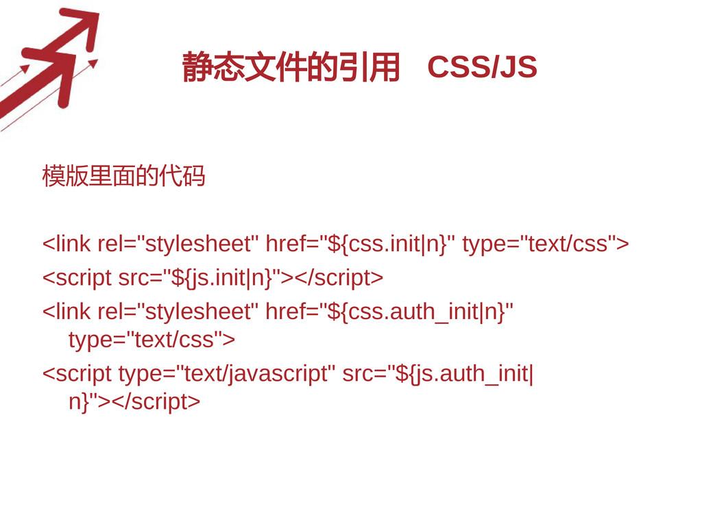 """静态文件的引用 CSS/JS 模版里面的代码 <link rel=""""stylesheet"""" h..."""