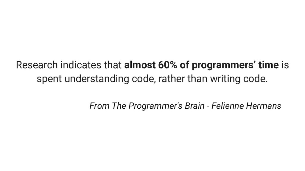 Research indicates that almost 60% of programme...