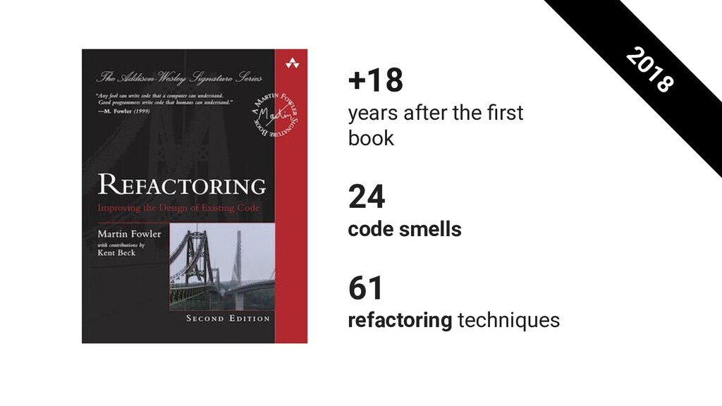 +18 years after the first book 24 code smells 61...