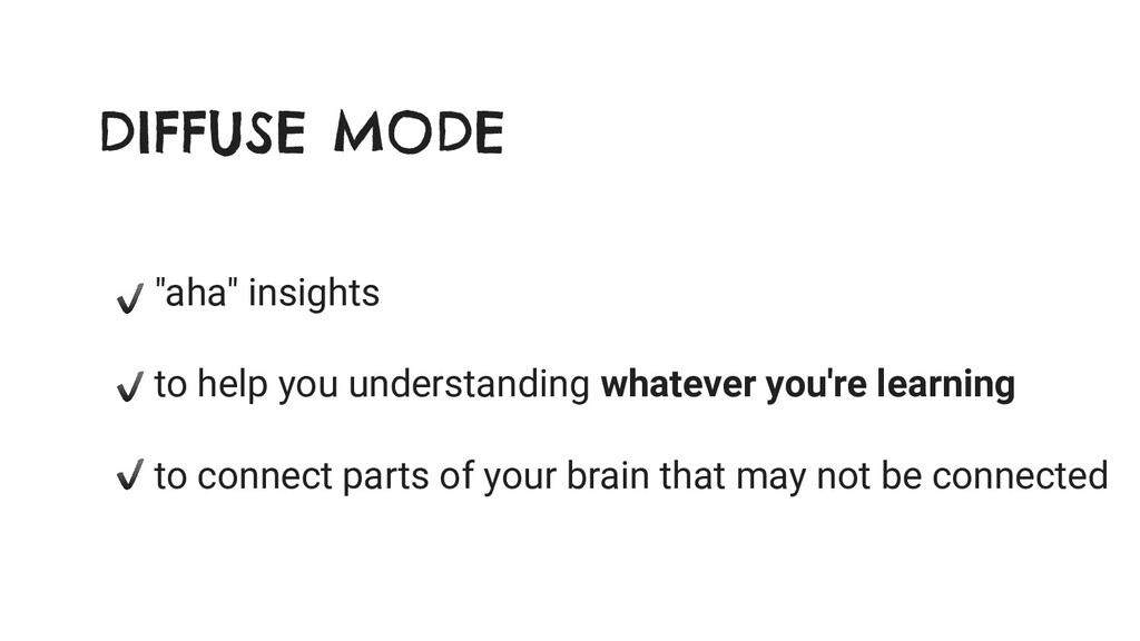 """DIFFUSE MODE """"aha"""" insights to help you underst..."""