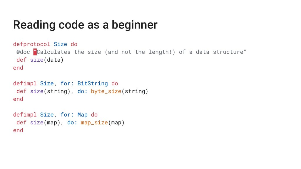 Reading code as a beginner defprotocol Size do ...