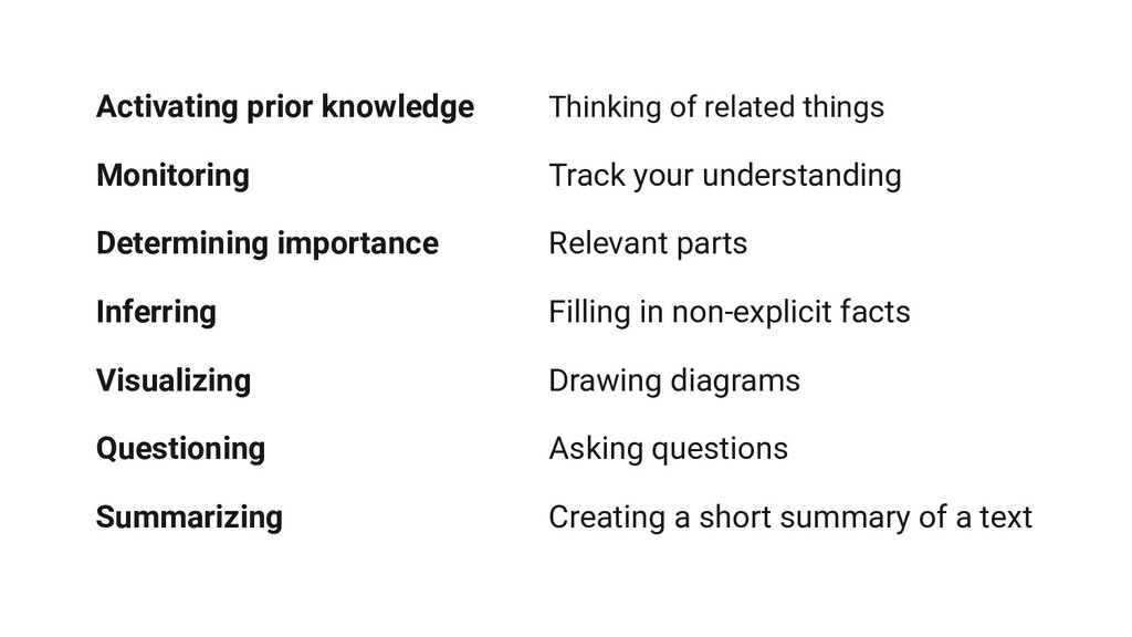 Activating prior knowledge Thinking of related ...