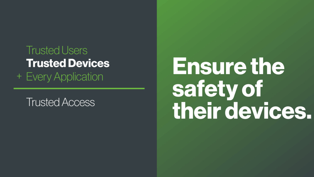 Ensure the safety of their devices. Trusted Use...