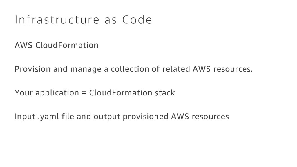 Infrastructure as Code AWS CloudFormation Provi...