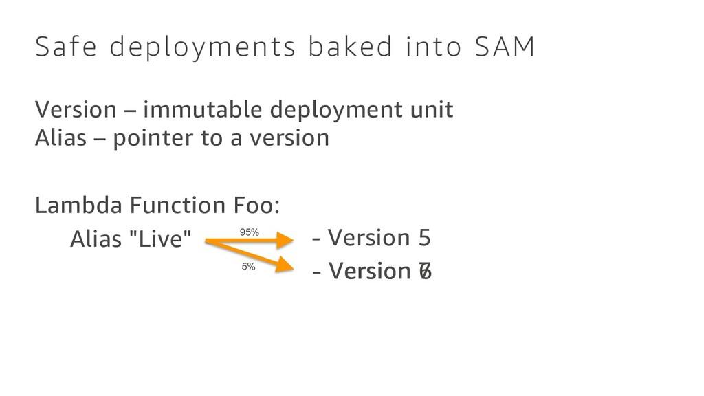 Safe deployments baked into SAM Version – immut...