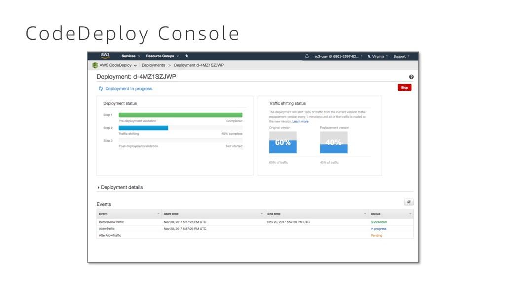 CodeDeploy Console